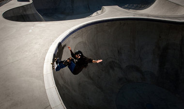 Skateboarding pro Bennett Harada photographed in Los Angeles for TIME magazine.