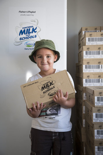 Milk monitors collect cartons of milk
