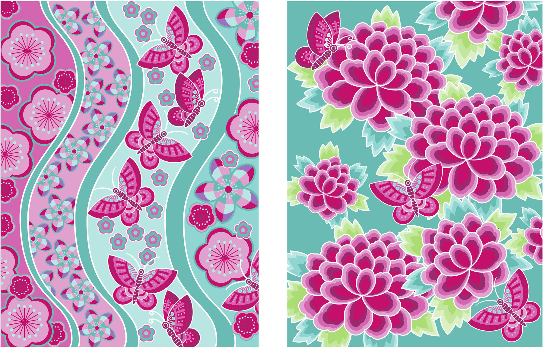 Surface design for a range of gift wrap.