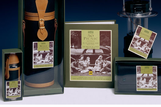 A range of luxury packaging for outdoor gifts.