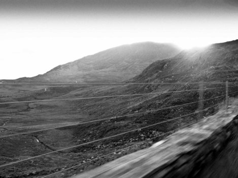 Created to capture the motion of travelling the Southern Irish Countryside by Car in 2009