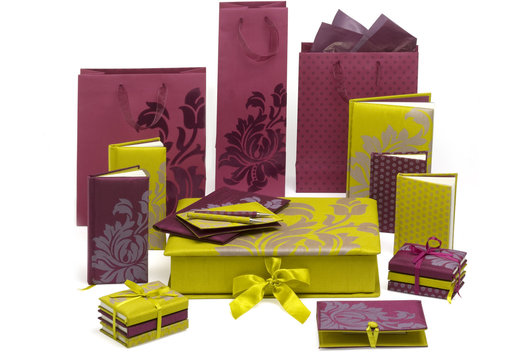 Graphic design for a range of Gift packaging and stationery.