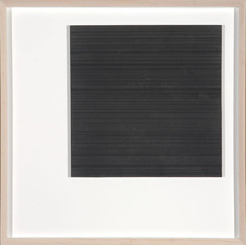 Graphite on Paper, on Aluminum Panel, framed