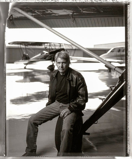 Harrison Ford, photographed at Santa Monica Airport, Los Angeles, Ca 2/6/08, for Empire Magazine. Photograph by Robert Gallagher.
