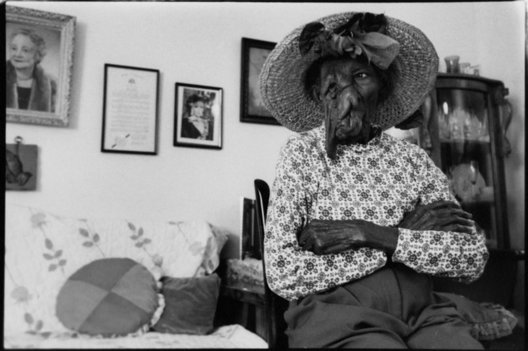 At time of this photograph, Ms. Mattie was 103. Selma, Alabama.