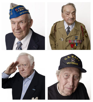 Portraits of D Day veterans