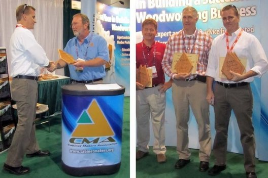 The Cabinet Makers Assoiation (CMA) is pleased to announce the winners of its annual Wood Diamond Awards. Winning entries and their creators were recognized today at a press conference in the CMA booth at the IWF show in Atlanta.