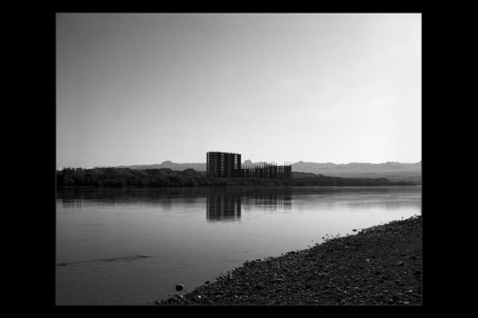 abandoned hotel construction near on Colorado River near Laughlin