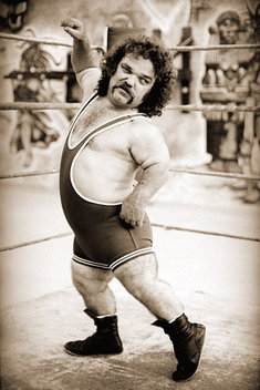 Dirty Dan professional midget wrestler in 1980's promo workout.