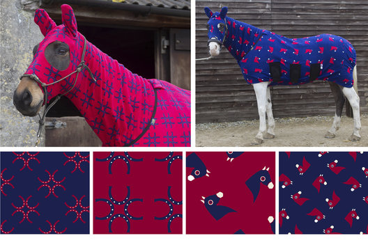 Textile designs for a range of horse coats and rugs.