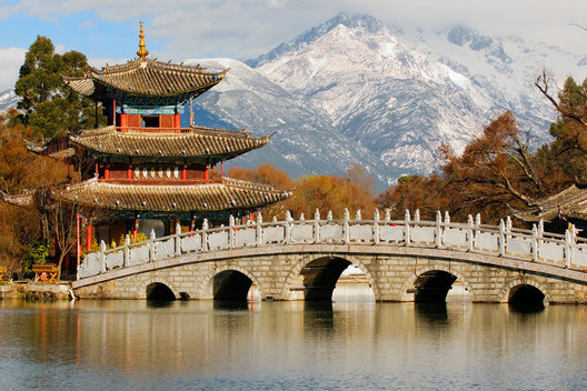China, Lijiang, Black Dragon Pool Park, Heilongtan Gongyuan, Yunnan Province
