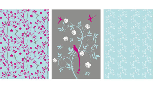Surface patterns for a range of stationery.