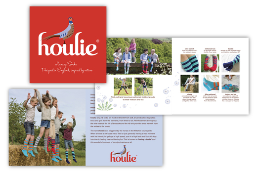 Photographic direction and brochure design for Houlie luxury socks.