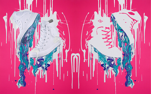 sneaker clash marble painting