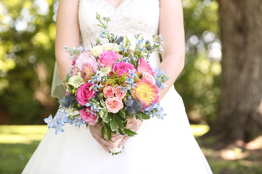 close up of bride's bouquet