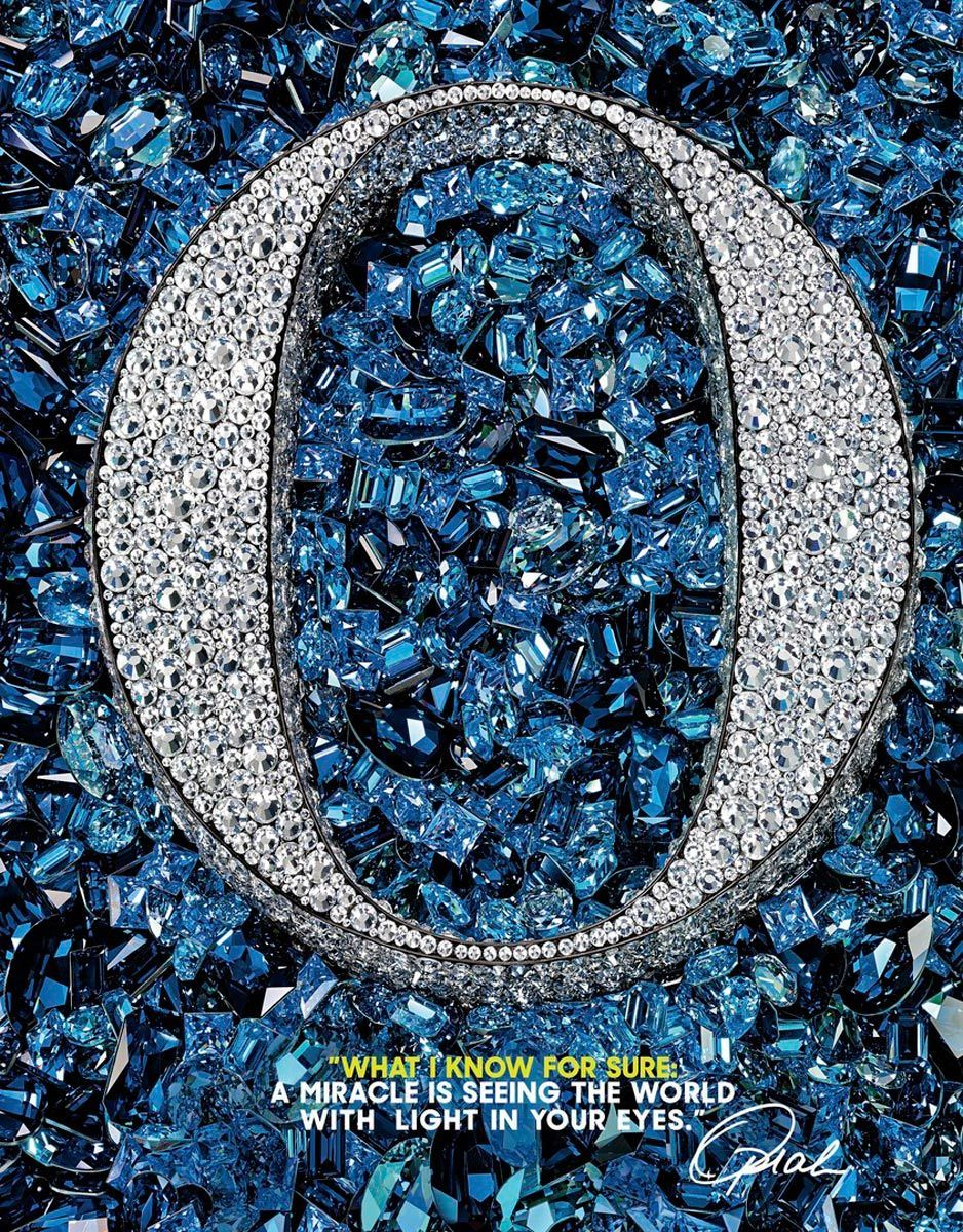 3D logo created out of thousands of swarovski crystals
