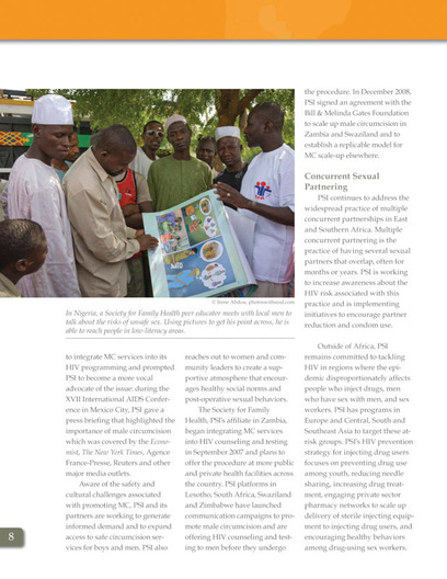 1/2 page photo, 2008 Annual Report, Population Services International