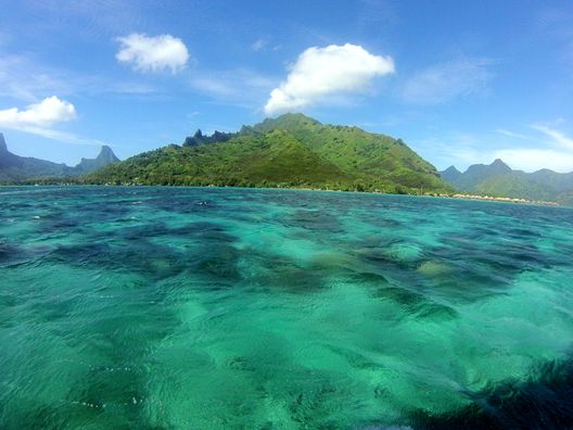 Moorea in the French Polynesia islands