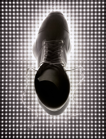 mens sneaker with LED panel