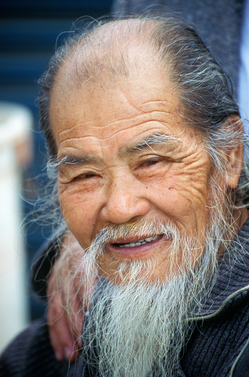 Old Chinese wise man portrait