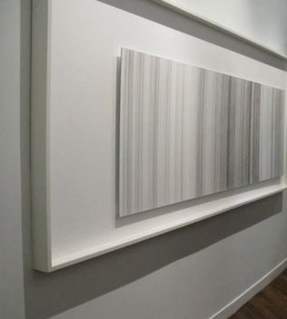 Graphite on paper, mounted on aluminum panel, framed