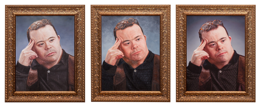 3@ 20x26 inches, 2 - oil on canvas, 1 - inkjet print, framed to 26.75x32.75 inches each