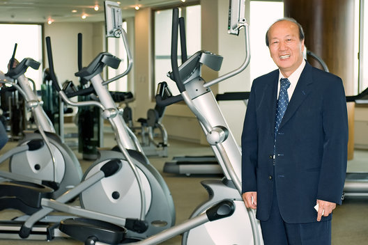 Peter Lo, founder of Johnson Health Tech.  Johnson Health Tech. is the 3rd largest fitness equipment manufacturer in the world and the largest in Asia.