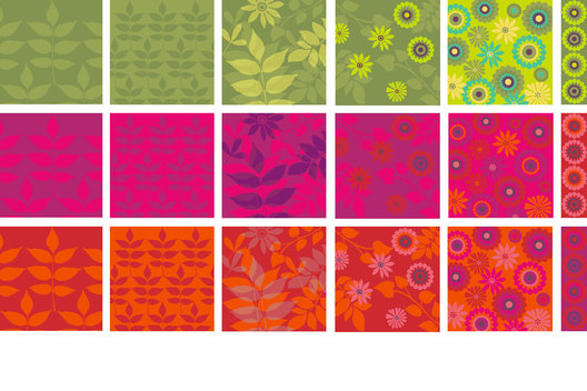 Surface pattern for high Summer products showing a choice of colourways.