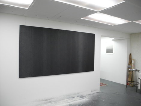 Poured Oil, Graphite on Aluminum