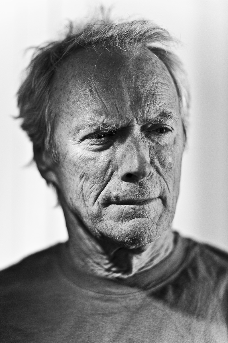 Clint Eastwood, photographed while recording the soundtrack for the film 'Gran Torino' with Jamie Cullum.