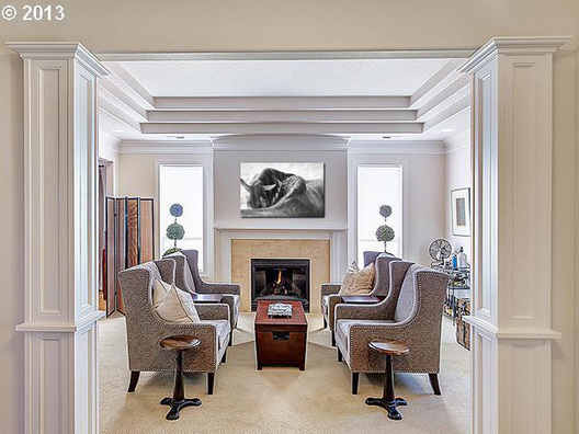 My artwork in large size featured in a designer home.