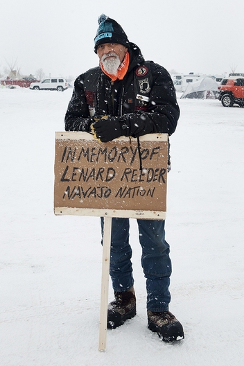 I met Lesley the morning I visited Standing Rock, he is posed here before going to put up a memorial sign in memory of his cousin.