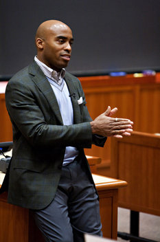 Tiki Barber (New York Giants) at Harvard Business School