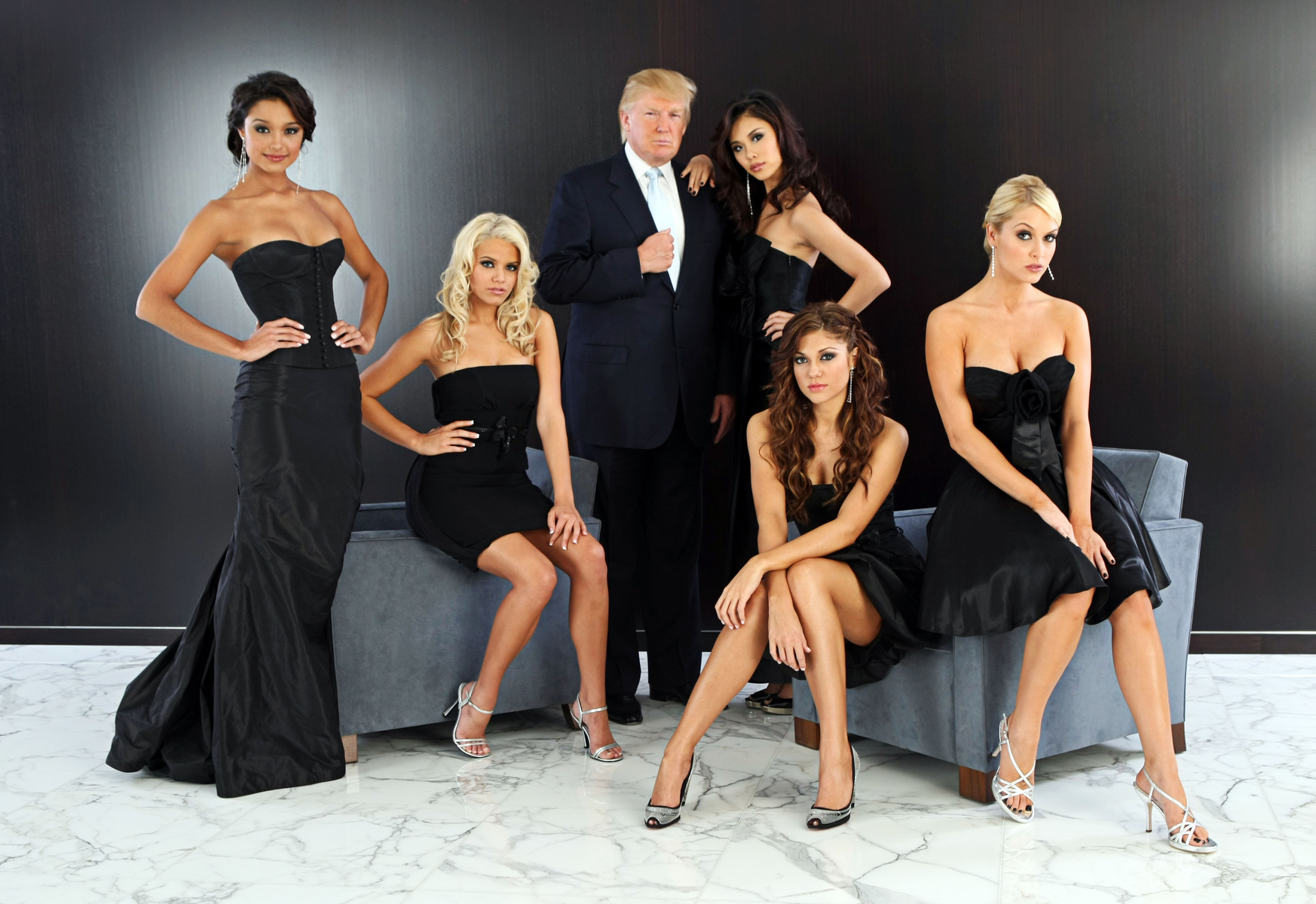 Donald Trump with Beauty Pageant Winners