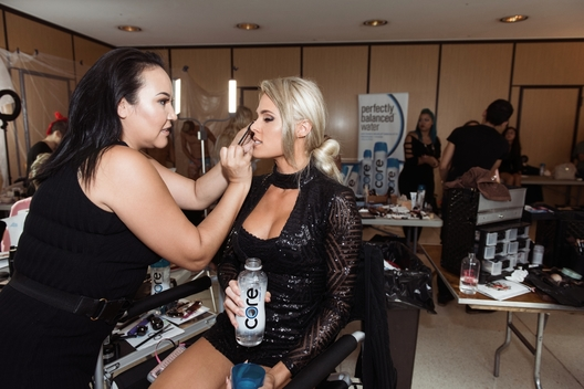 Makeup Artist Wabanoonkwe with Lauren Ziegler, Mrs. United States 2017