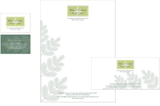 Identity design, stationery and promotional material for an independant landscape gardener.