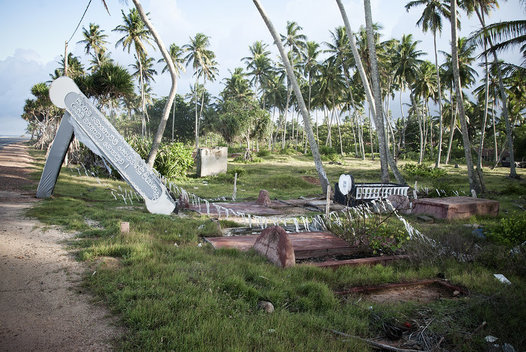 The coastal village of Serigama, Sri Lanka lay in ruins two years after the Tsunami of December 26th, 2004.