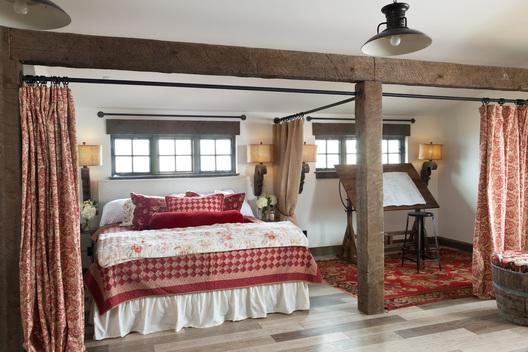 Castle rock farmhouse denver interior designer - Room divider curtain ideas ...