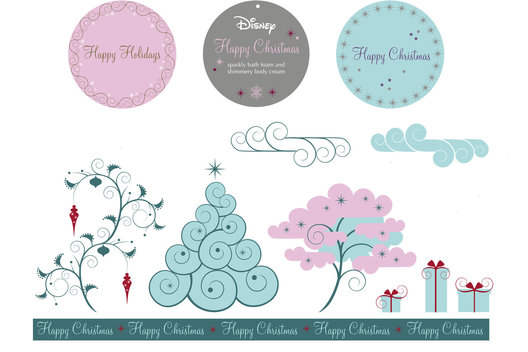 Creation of pattern and trim for a Princess theme. 