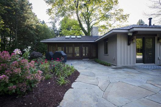 Modern Stone Cottage stone ranch   heidi hornaday architect