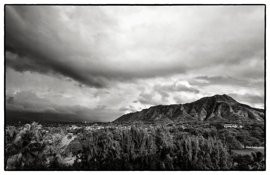 Diamond Head and clouds, Honolulu, Hawaii