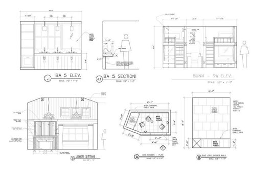 Dragonfly Designs provides detailed and dimensioned CAD drawing design sets for communication of finishes, floor plans, furnishing plans and electrical plans.