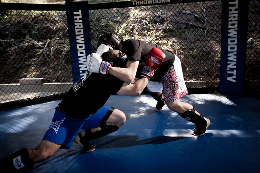 Ultimate Fighting legend Chuck Liddell photographed at his workout mecca in Central California for Sports Illustrated