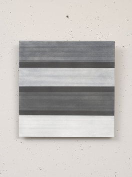 Graphite on Paper on Aluminum Panel; 12x12 inches; 