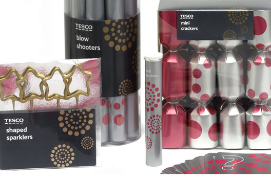 Packaging for a range of party products.