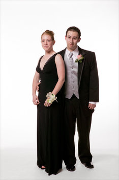 Portraits taken at the Marblehead High School Senior Prom prior to students leaving the school for the nights events.