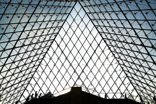 Louvre pyramid silhouette, Paris, France, Chicago editorial photographers