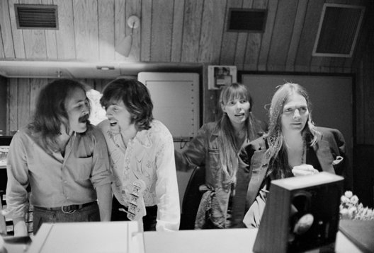 Crosby, Stills & Nash in the studio, recording their 1st record album