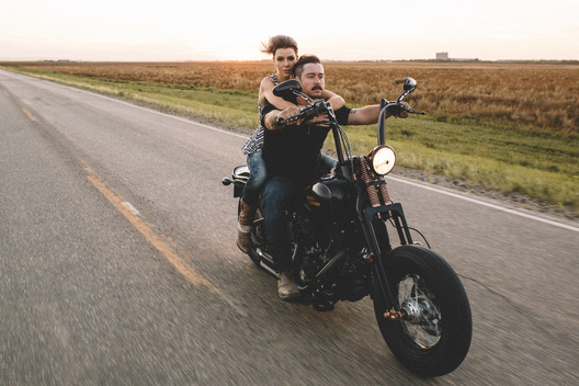 Hitting the road with these two in Moose Jaw Saskatchewan for their engagement shoot.