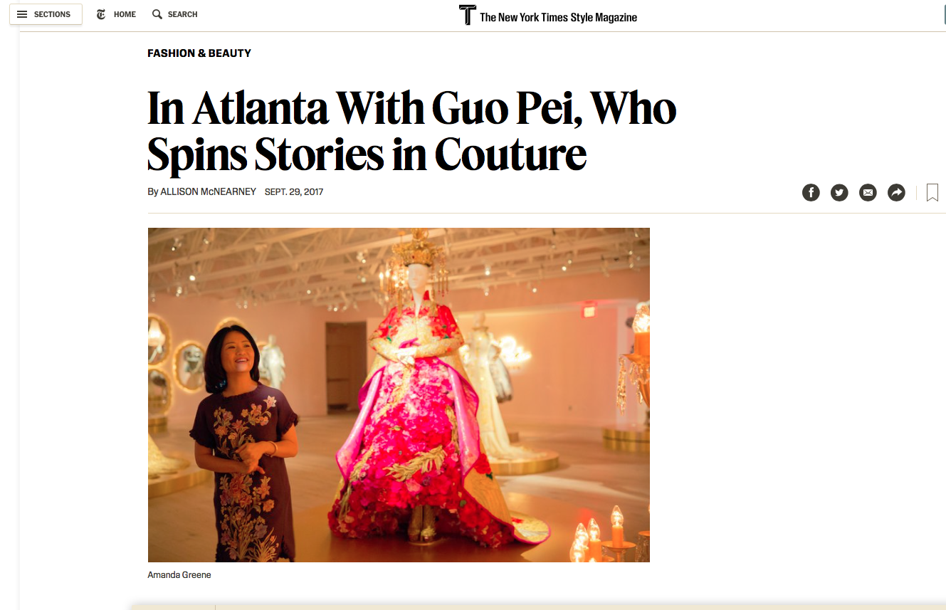Designer Guo Pei, photographed in Atlanta, GA